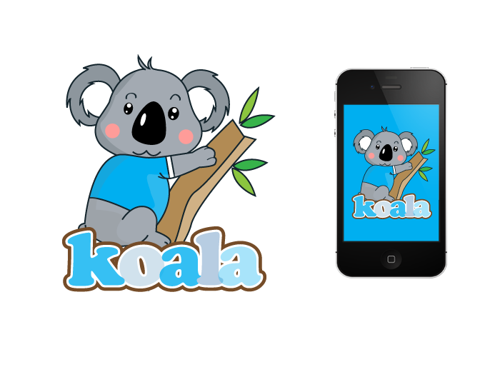 """Logo Design by Jan Chua - Entry No. 45 in the Logo Design Contest Imaginative Logo Design for """"Koala""""."""