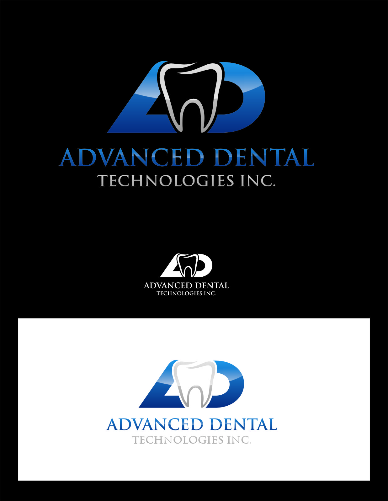 Logo Design by Ngepet_art - Entry No. 155 in the Logo Design Contest Fun Logo Design for Advanced Dental Technologies Inc..