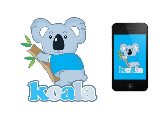 "Logo Design by Jan Chua - Entry No. 46 in the Logo Design Contest Imaginative Logo Design for ""Koala""."