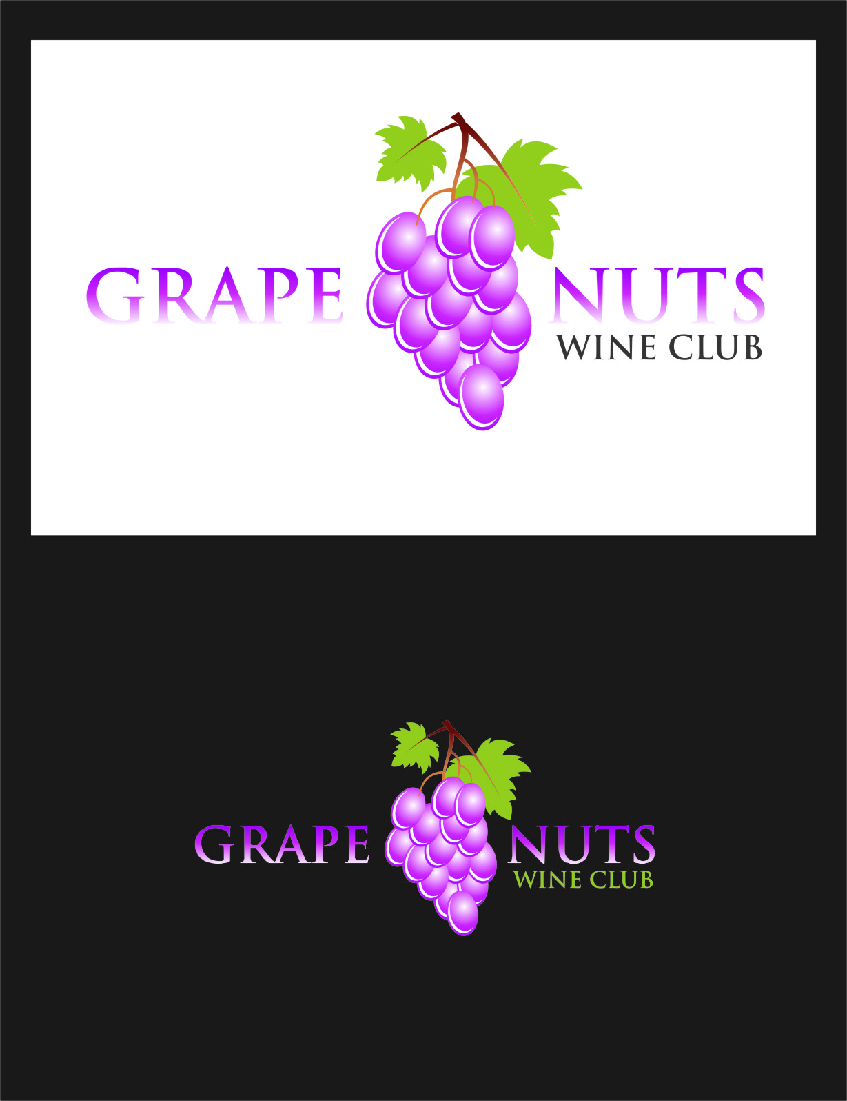 Logo Design by RasYa Muhammad Athaya - Entry No. 31 in the Logo Design Contest Artistic Logo Design for Grape Nuts Wine Club.