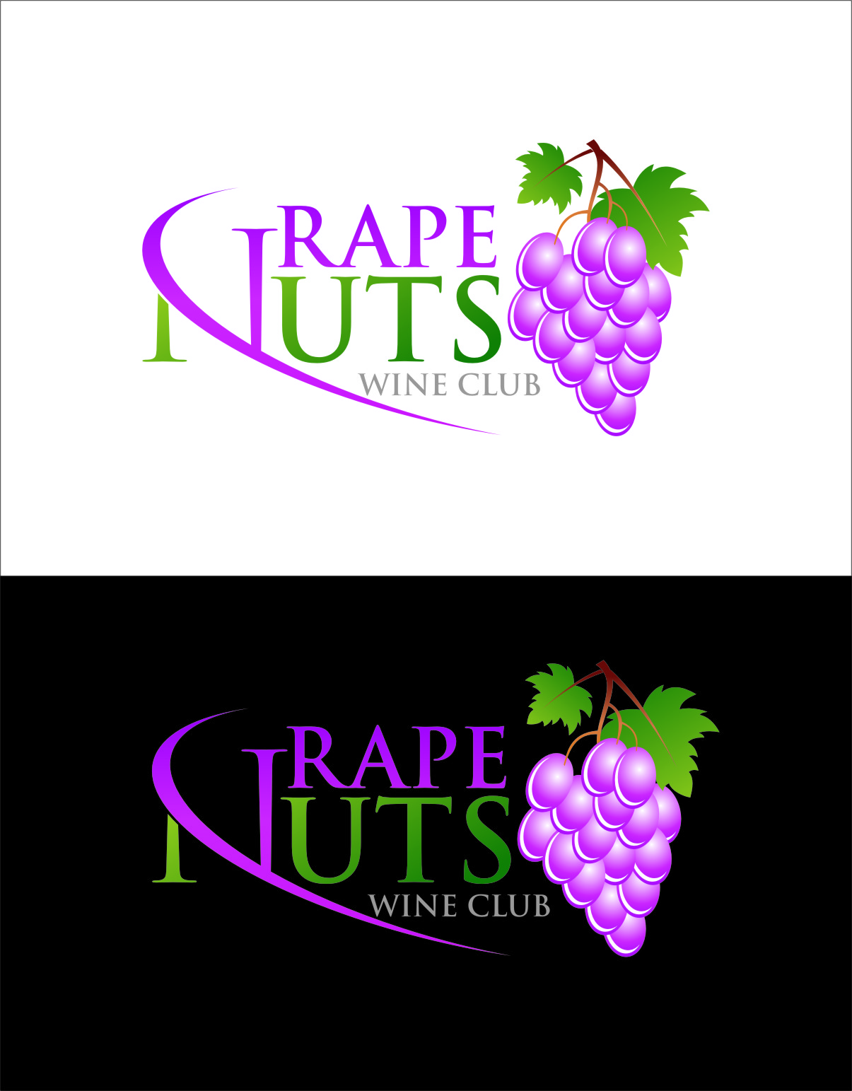 Logo Design by RasYa Muhammad Athaya - Entry No. 35 in the Logo Design Contest Artistic Logo Design for Grape Nuts Wine Club.