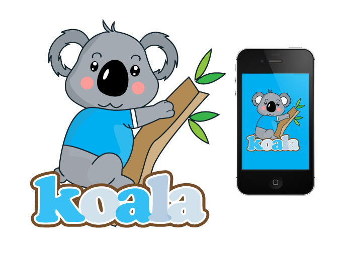 "Logo Design by Jan Chua - Entry No. 57 in the Logo Design Contest Imaginative Logo Design for ""Koala""."