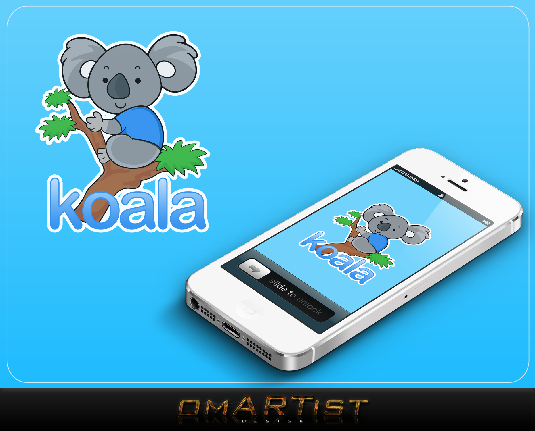 "Logo Design by omARTist - Entry No. 62 in the Logo Design Contest Imaginative Logo Design for ""Koala""."