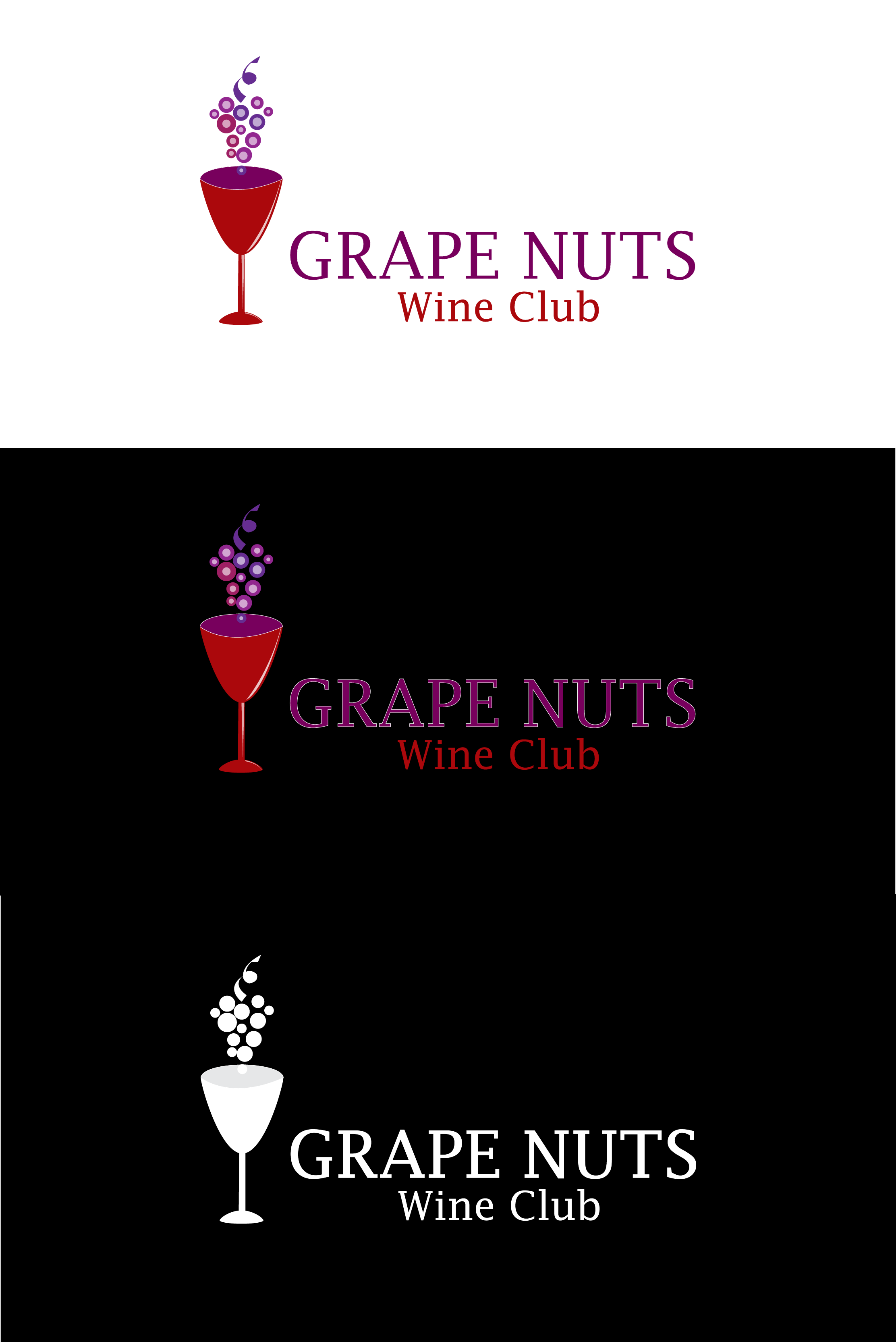 Logo Design by mediaproductionart - Entry No. 37 in the Logo Design Contest Artistic Logo Design for Grape Nuts Wine Club.