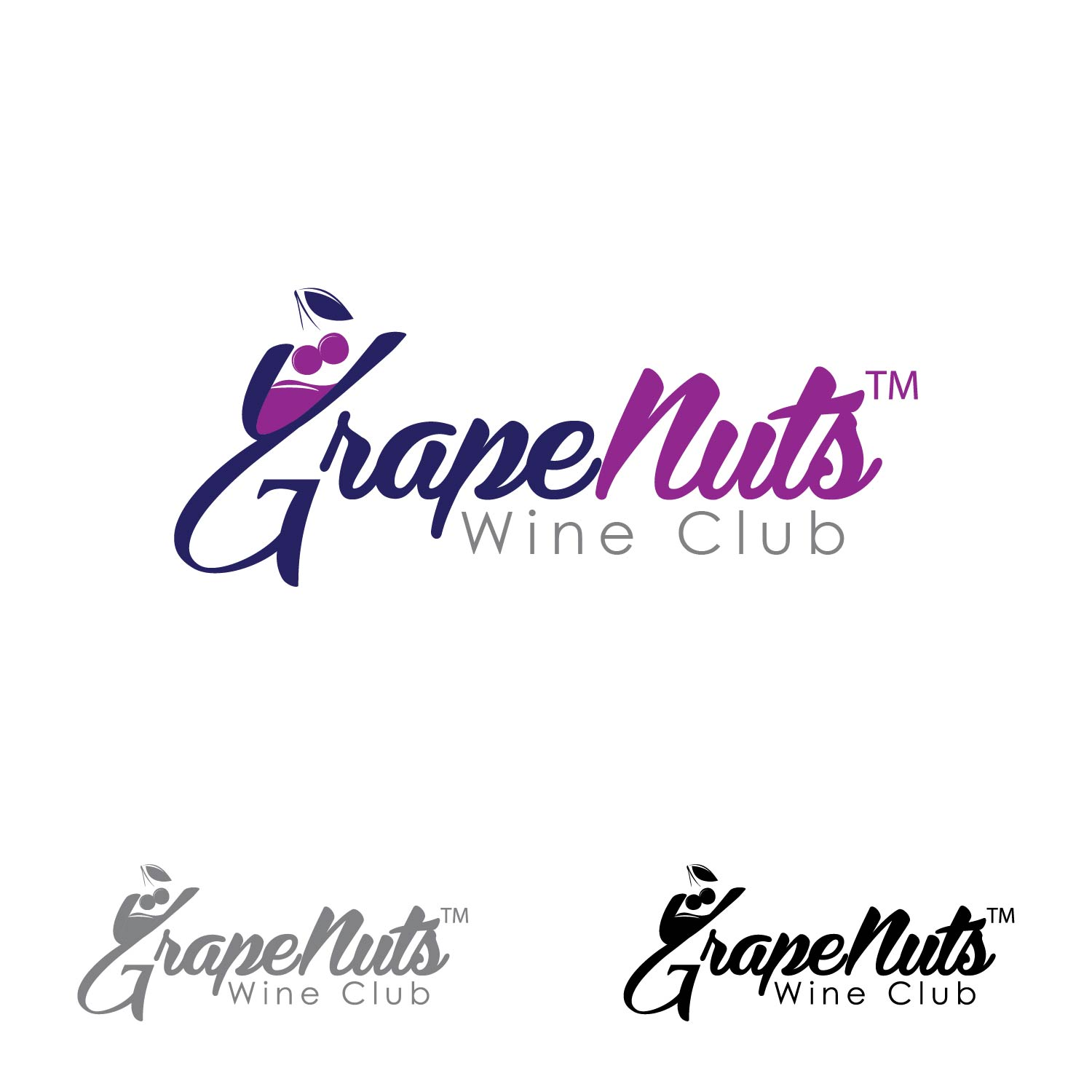 Logo Design by lagalag - Entry No. 40 in the Logo Design Contest Artistic Logo Design for Grape Nuts Wine Club.