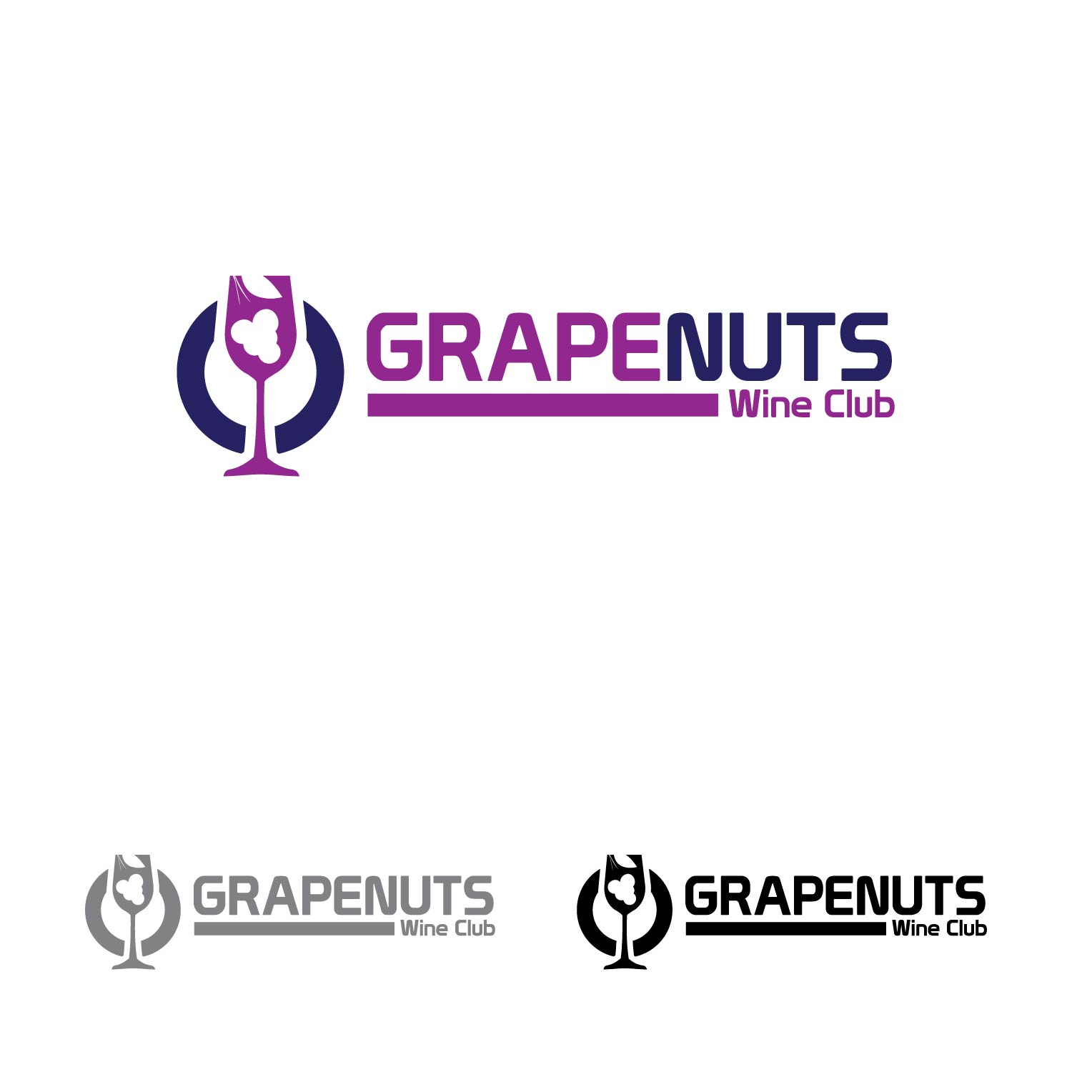 Logo Design by lagalag - Entry No. 41 in the Logo Design Contest Artistic Logo Design for Grape Nuts Wine Club.