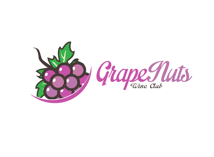 Logo Design by Jan Chua - Entry No. 47 in the Logo Design Contest Artistic Logo Design for Grape Nuts Wine Club.