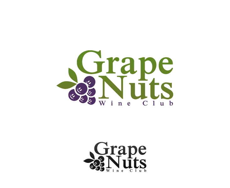 Logo Design by Juan_Kata - Entry No. 52 in the Logo Design Contest Artistic Logo Design for Grape Nuts Wine Club.