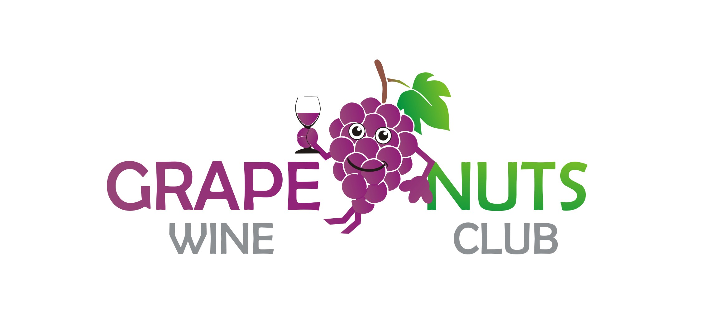 Logo Design by Yuda Hermawan - Entry No. 53 in the Logo Design Contest Artistic Logo Design for Grape Nuts Wine Club.