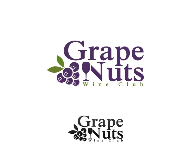 Logo Design by Juan_Kata - Entry No. 54 in the Logo Design Contest Artistic Logo Design for Grape Nuts Wine Club.