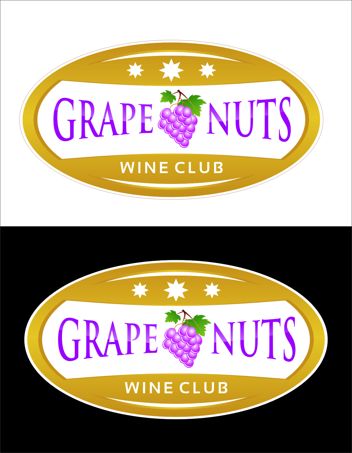 Logo Design by Ngepet_art - Entry No. 60 in the Logo Design Contest Artistic Logo Design for Grape Nuts Wine Club.
