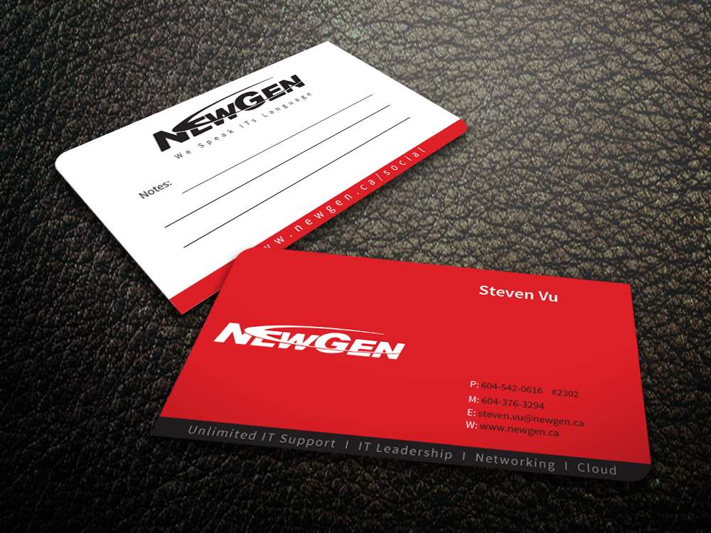 Business Card Design by mediaproductionart - Entry No. 95 in the Business Card Design Contest Inspiring Business Card Design for NewGen Technologies.