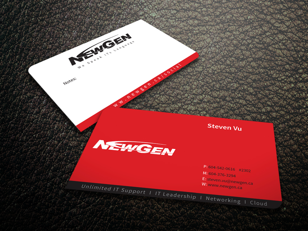 Business Card Design by mediaproductionart - Entry No. 96 in the Business Card Design Contest Inspiring Business Card Design for NewGen Technologies.