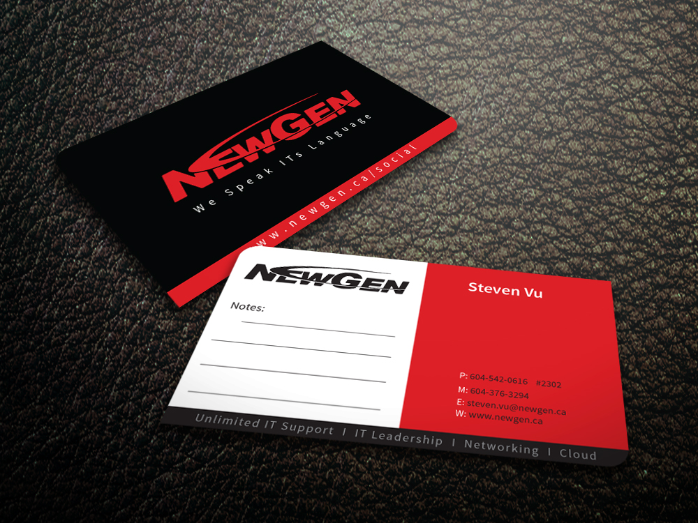 Business Card Design by mediaproductionart - Entry No. 97 in the Business Card Design Contest Inspiring Business Card Design for NewGen Technologies.