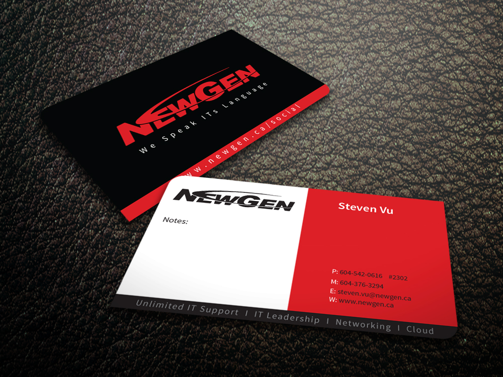 Business Card Design by mediaproductionart - Entry No. 98 in the Business Card Design Contest Inspiring Business Card Design for NewGen Technologies.
