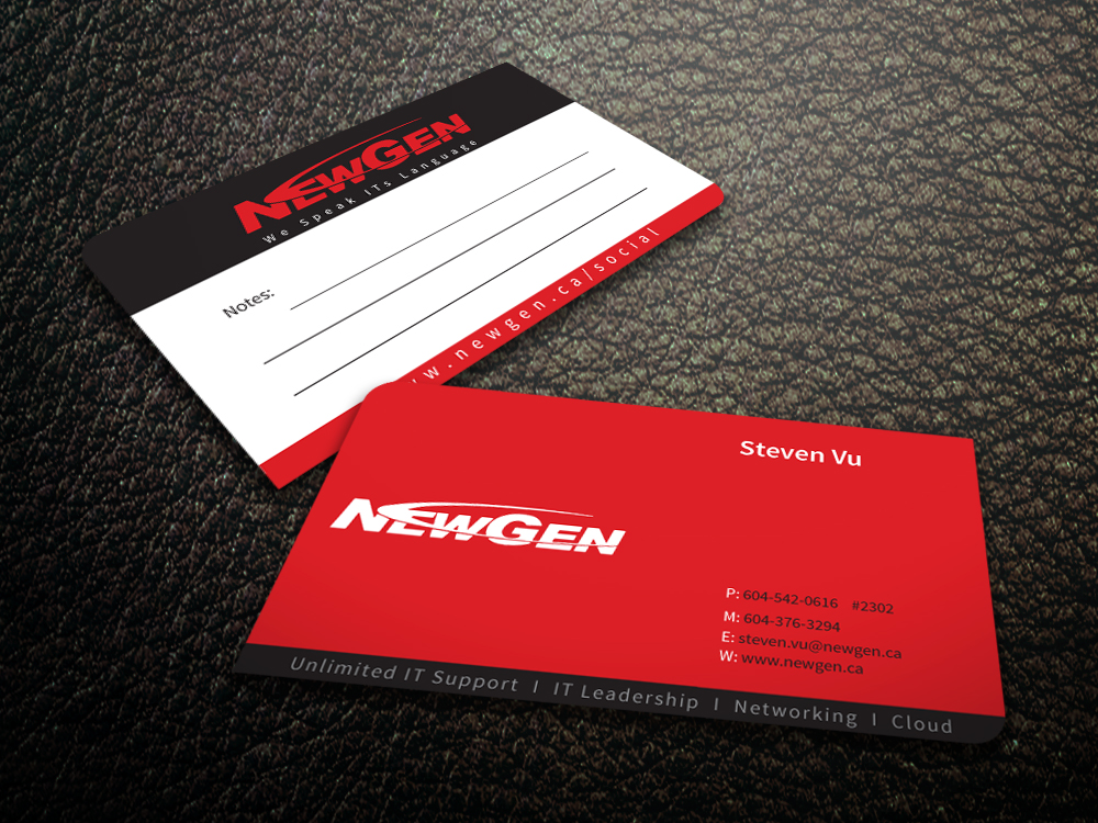 Business Card Design by mediaproductionart - Entry No. 99 in the Business Card Design Contest Inspiring Business Card Design for NewGen Technologies.