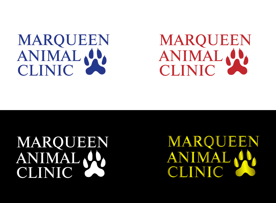 Logo Design by Private User - Entry No. 8 in the Logo Design Contest Fun Logo Design for MarQueen Animal Clinic.