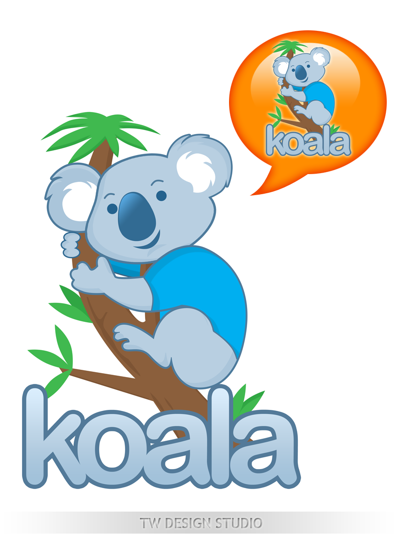"Logo Design by Private User - Entry No. 68 in the Logo Design Contest Imaginative Logo Design for ""Koala""."