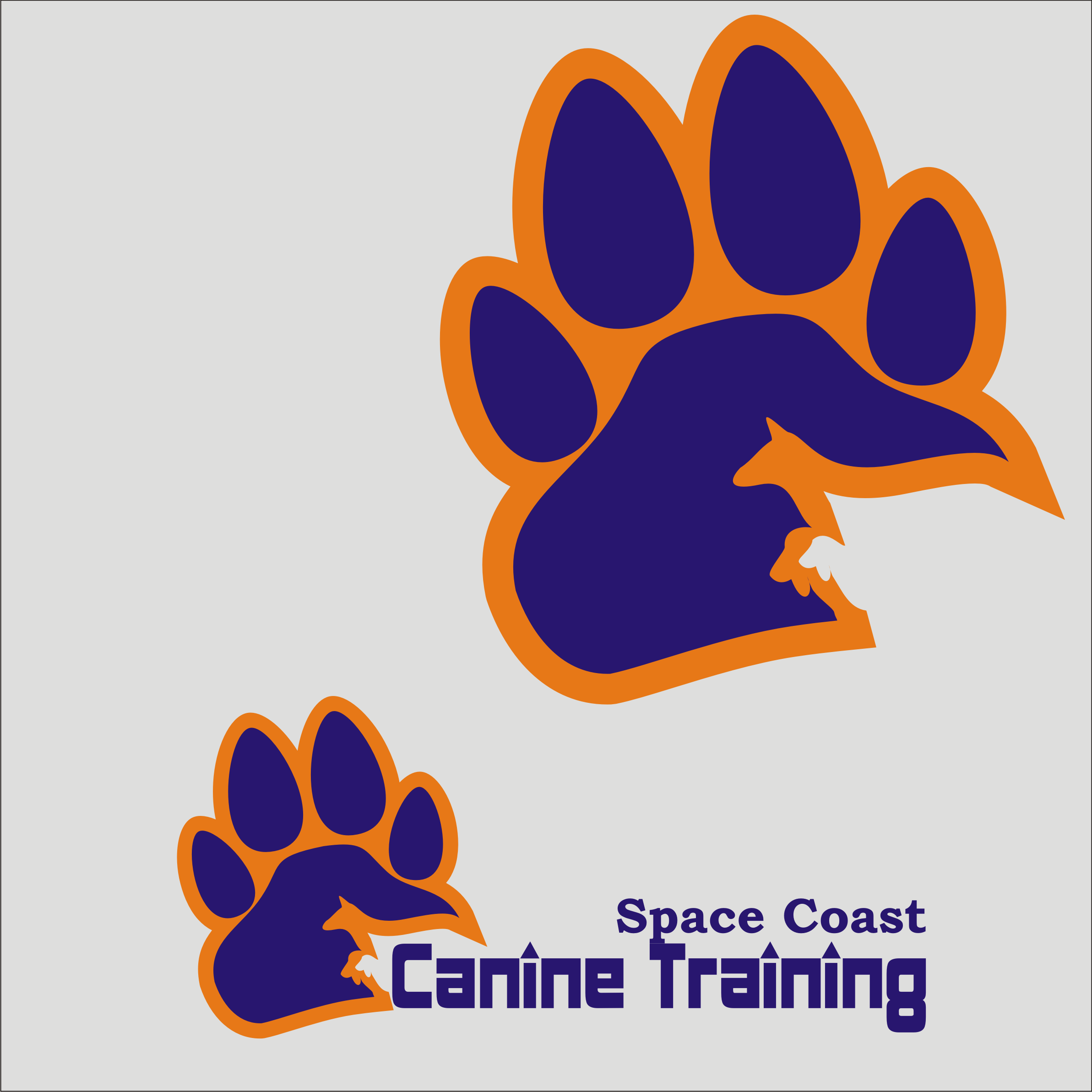Logo Design by Private User - Entry No. 33 in the Logo Design Contest Creative Logo Design for Space Coast Canine Training.