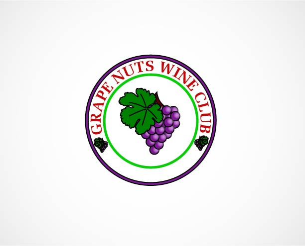 Logo Design by Peter Palma - Entry No. 69 in the Logo Design Contest Artistic Logo Design for Grape Nuts Wine Club.