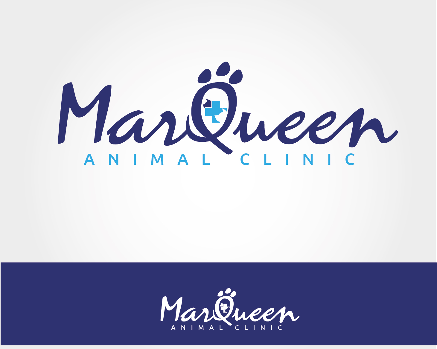 Logo Design by VENTSISLAV KOVACHEV - Entry No. 10 in the Logo Design Contest Fun Logo Design for MarQueen Animal Clinic.