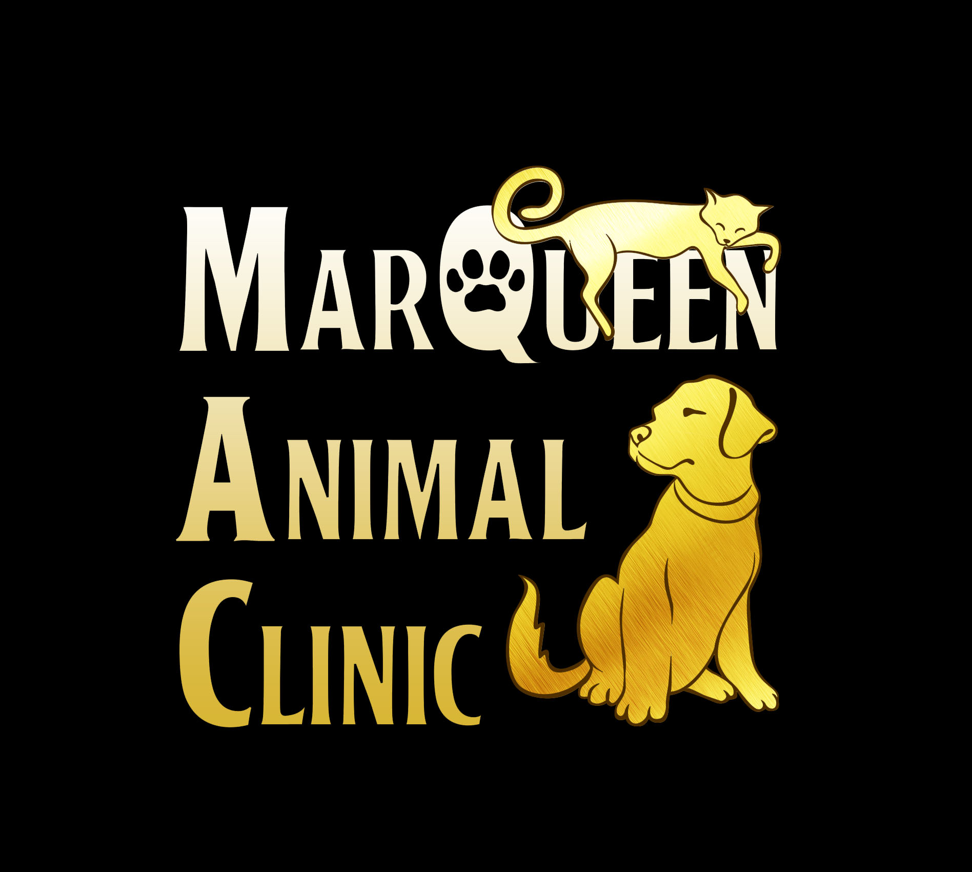 Logo Design by Respati Himawan - Entry No. 11 in the Logo Design Contest Fun Logo Design for MarQueen Animal Clinic.