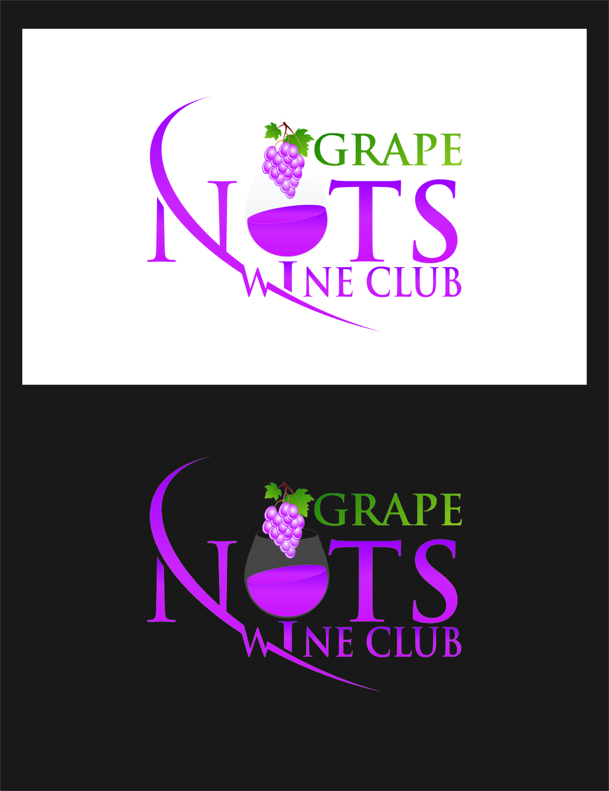 Logo Design by Ngepet_art - Entry No. 70 in the Logo Design Contest Artistic Logo Design for Grape Nuts Wine Club.