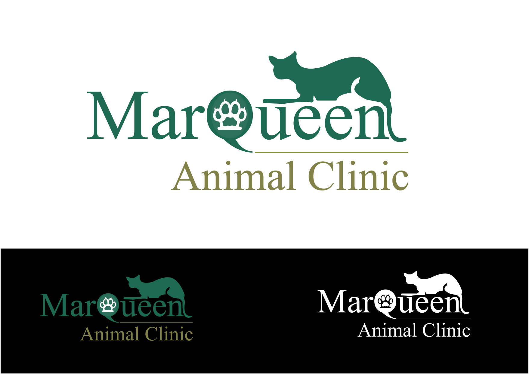 Logo Design by Private User - Entry No. 13 in the Logo Design Contest Fun Logo Design for MarQueen Animal Clinic.