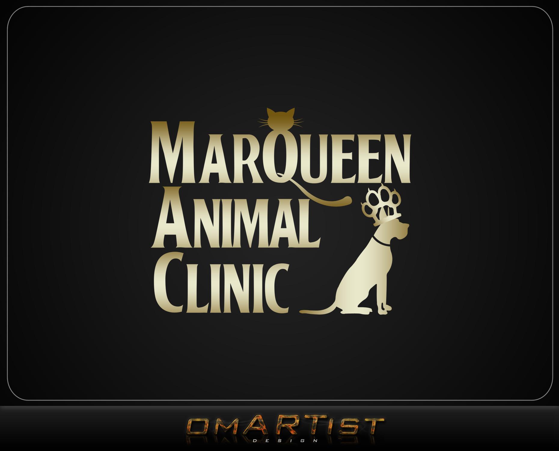 Logo Design by omARTist - Entry No. 14 in the Logo Design Contest Fun Logo Design for MarQueen Animal Clinic.