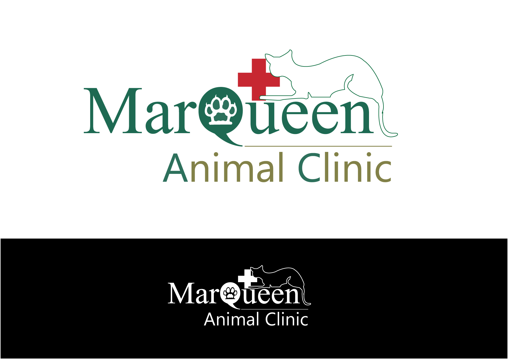 Logo Design by Private User - Entry No. 15 in the Logo Design Contest Fun Logo Design for MarQueen Animal Clinic.
