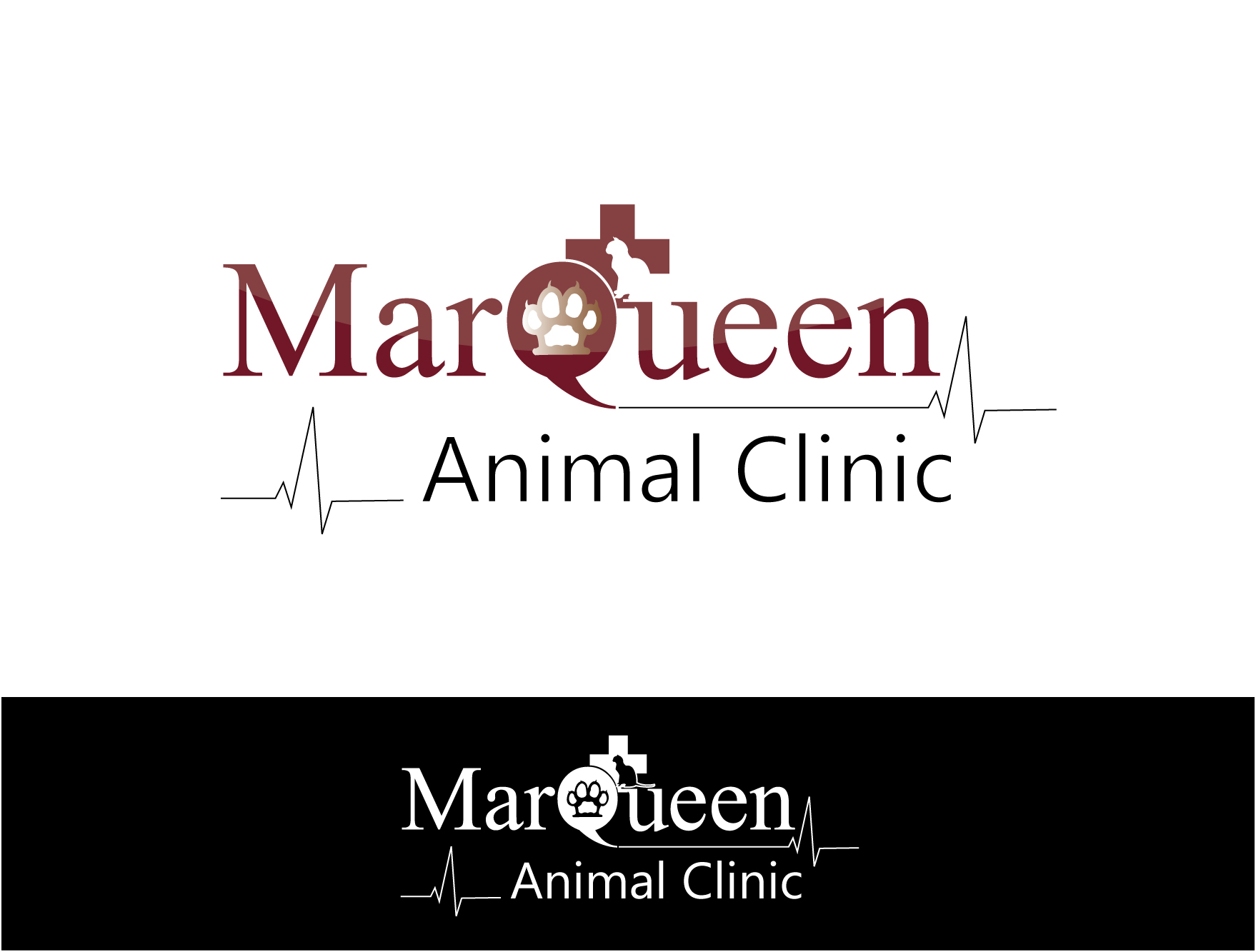 Logo Design by Private User - Entry No. 16 in the Logo Design Contest Fun Logo Design for MarQueen Animal Clinic.