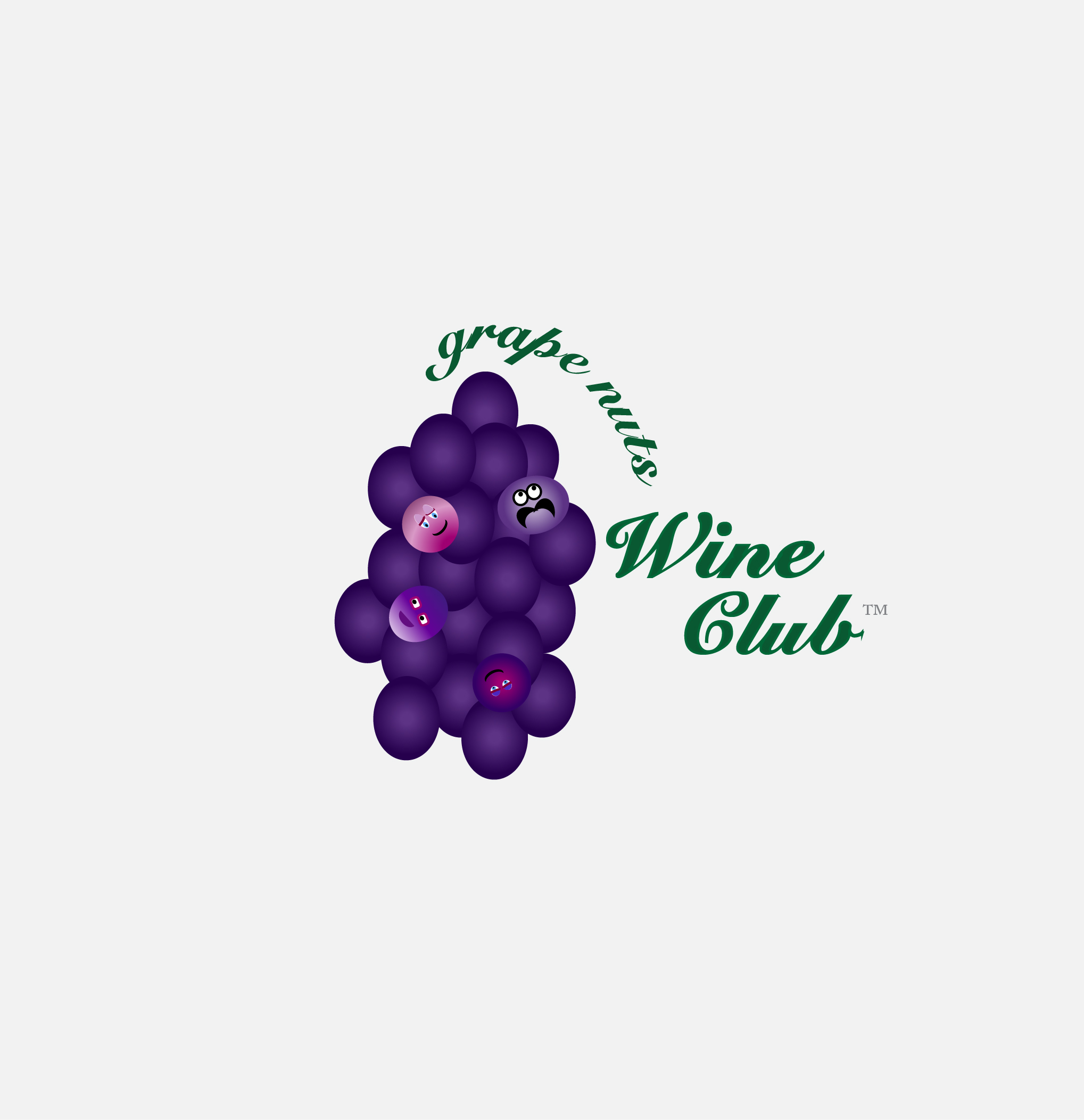 Logo Design by Nancy Grant - Entry No. 73 in the Logo Design Contest Artistic Logo Design for Grape Nuts Wine Club.