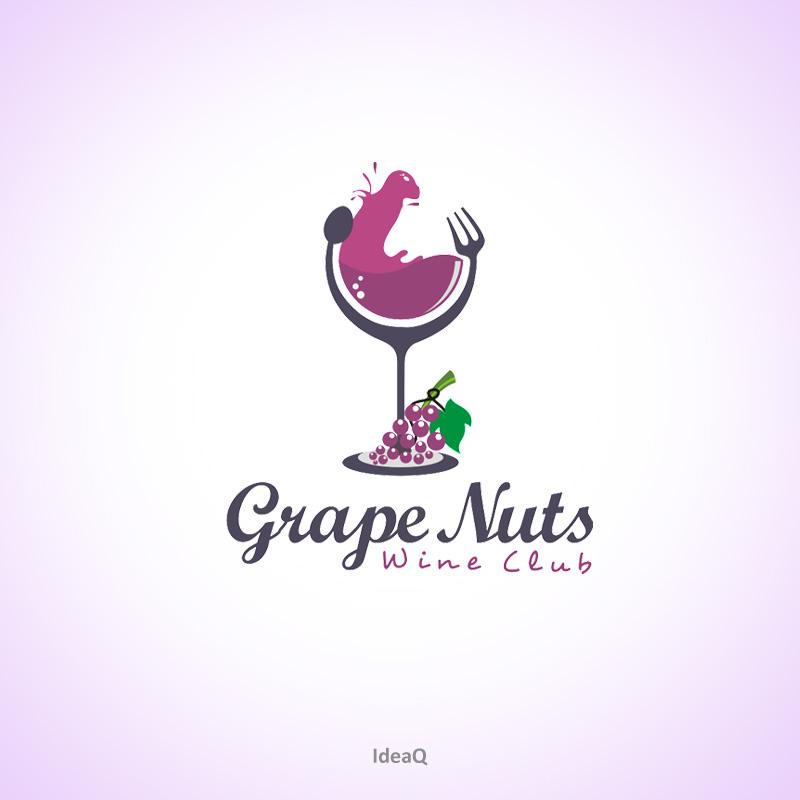 Logo Design by Private User - Entry No. 77 in the Logo Design Contest Artistic Logo Design for Grape Nuts Wine Club.
