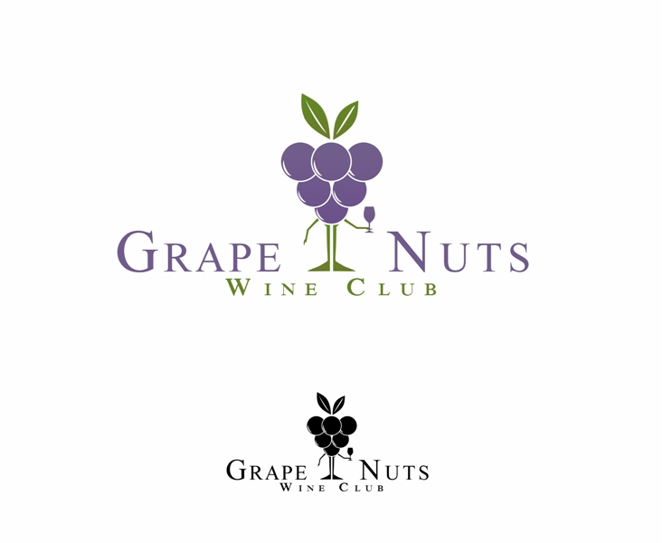 Logo Design by Juan_Kata - Entry No. 79 in the Logo Design Contest Artistic Logo Design for Grape Nuts Wine Club.