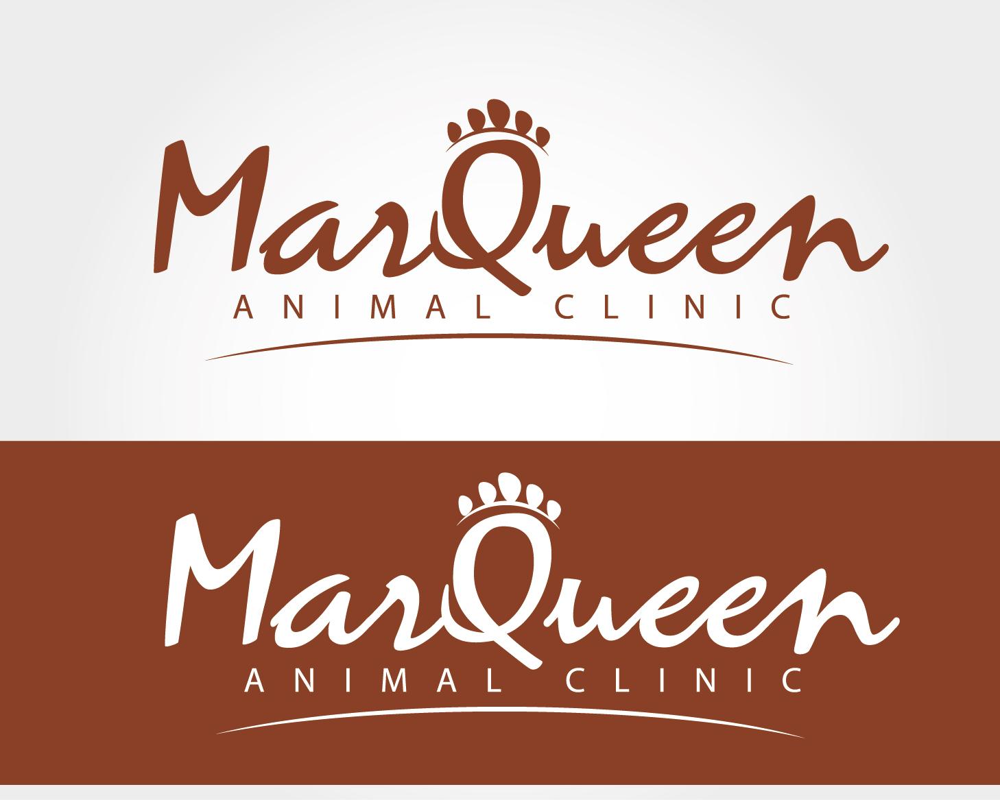 Logo Design by VENTSISLAV KOVACHEV - Entry No. 17 in the Logo Design Contest Fun Logo Design for MarQueen Animal Clinic.