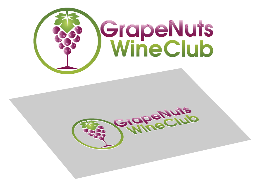 Logo Design by Private User - Entry No. 87 in the Logo Design Contest Artistic Logo Design for Grape Nuts Wine Club.