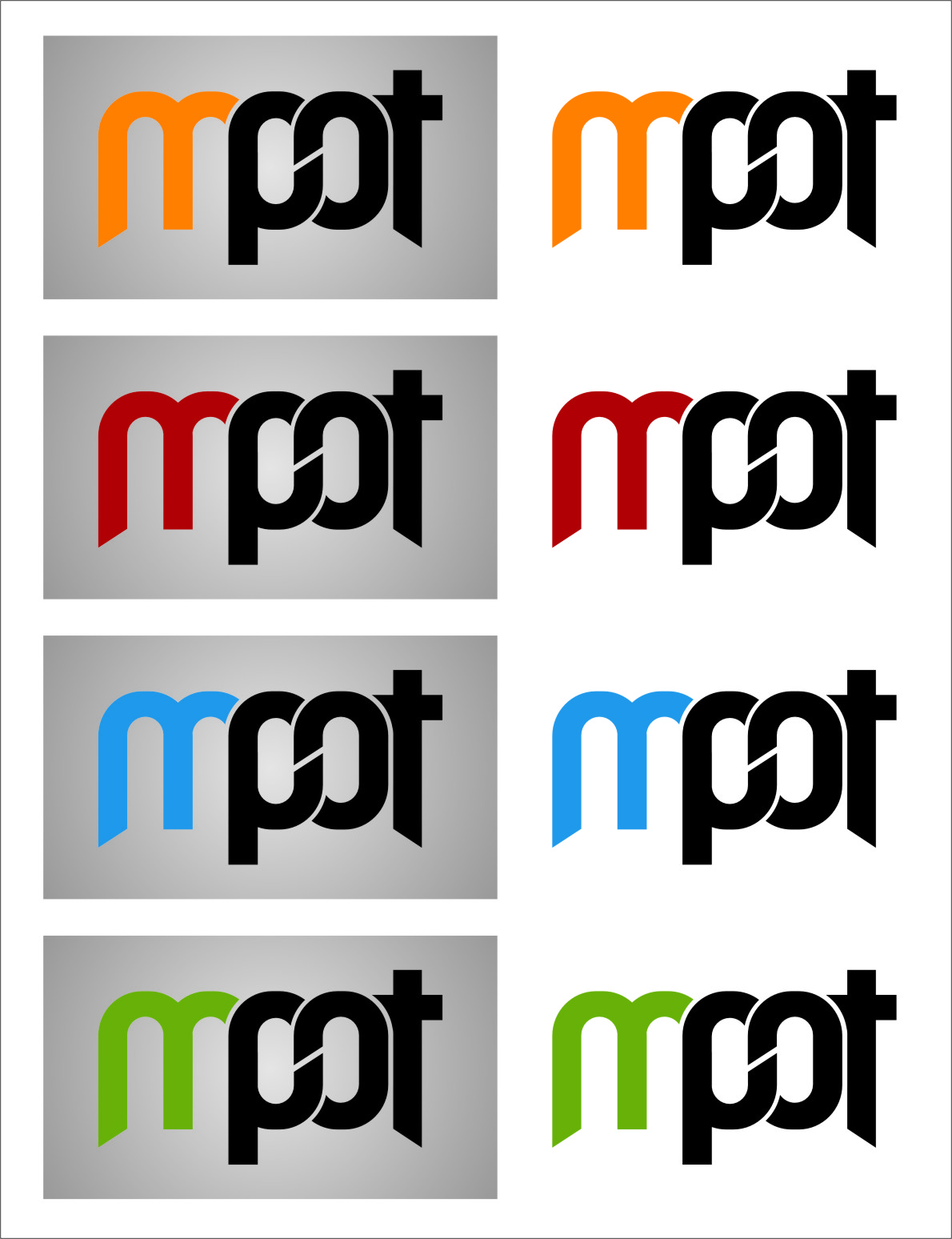 Logo Design by Ngepet_art - Entry No. 245 in the Logo Design Contest Mpot inc  Logo Design.