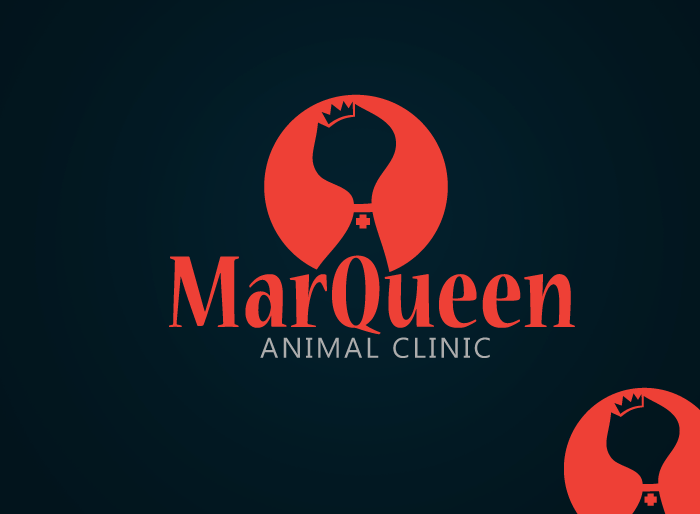 Logo Design by Jan Chua - Entry No. 24 in the Logo Design Contest Fun Logo Design for MarQueen Animal Clinic.