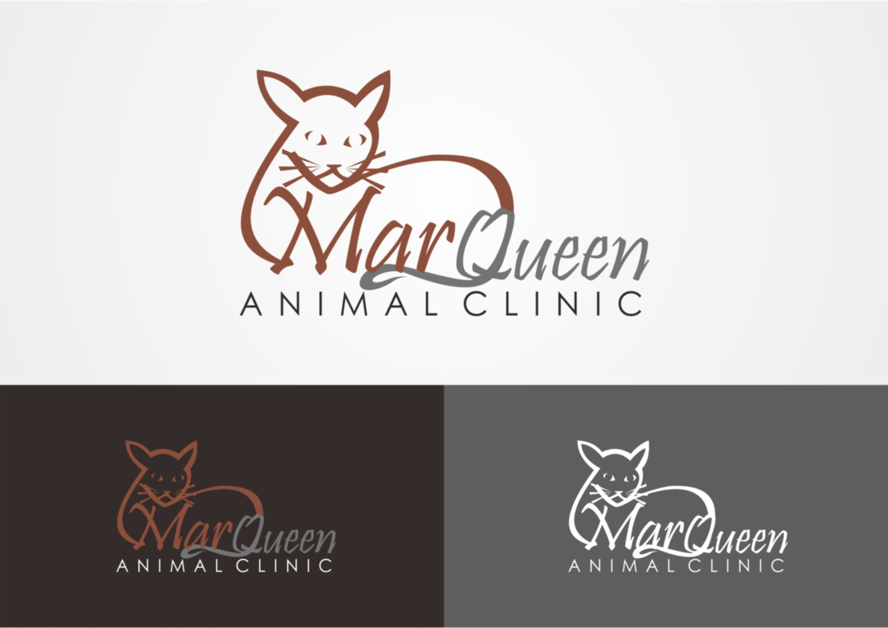 Logo Design by Private User - Entry No. 25 in the Logo Design Contest Fun Logo Design for MarQueen Animal Clinic.