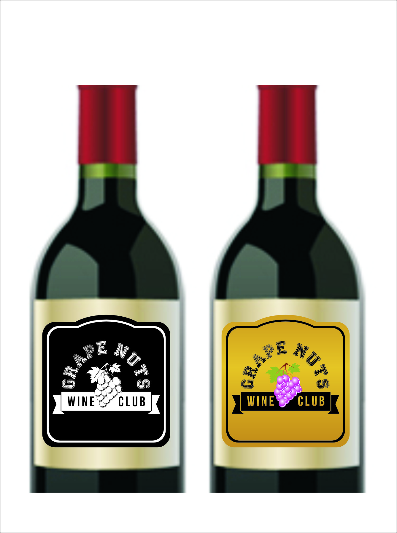 Logo Design by Ngepet_art - Entry No. 89 in the Logo Design Contest Artistic Logo Design for Grape Nuts Wine Club.