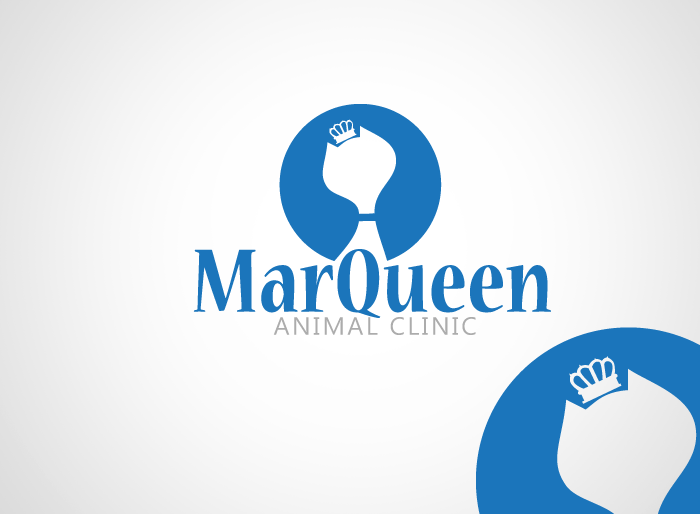 Logo Design by Jan Chua - Entry No. 26 in the Logo Design Contest Fun Logo Design for MarQueen Animal Clinic.