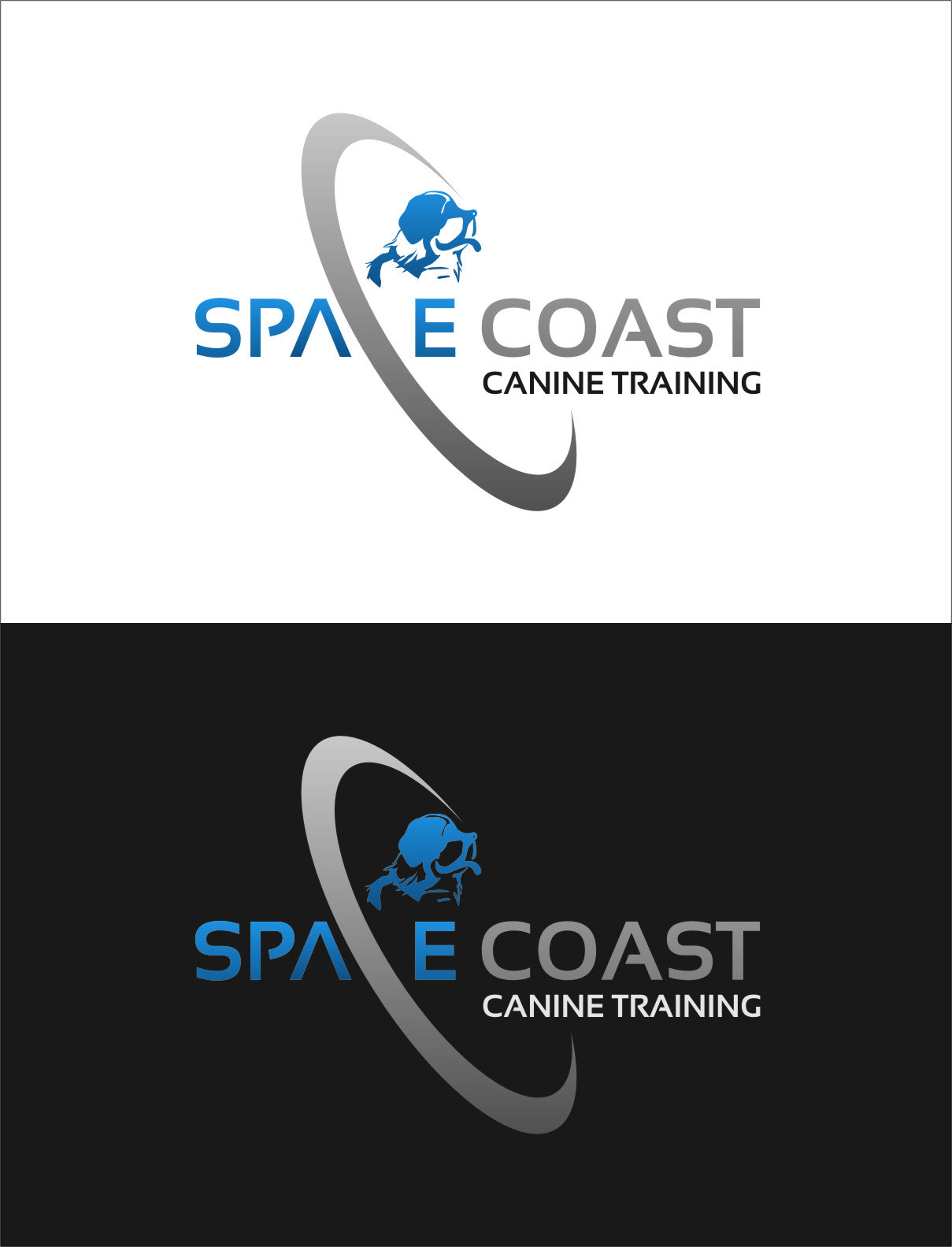Logo Design by RasYa Muhammad Athaya - Entry No. 50 in the Logo Design Contest Creative Logo Design for Space Coast Canine Training.
