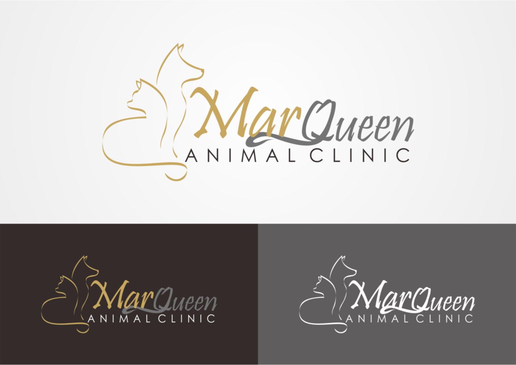 Logo Design by Private User - Entry No. 27 in the Logo Design Contest Fun Logo Design for MarQueen Animal Clinic.