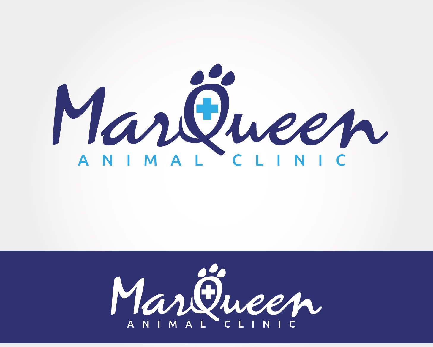 Logo Design by VENTSISLAV KOVACHEV - Entry No. 29 in the Logo Design Contest Fun Logo Design for MarQueen Animal Clinic.