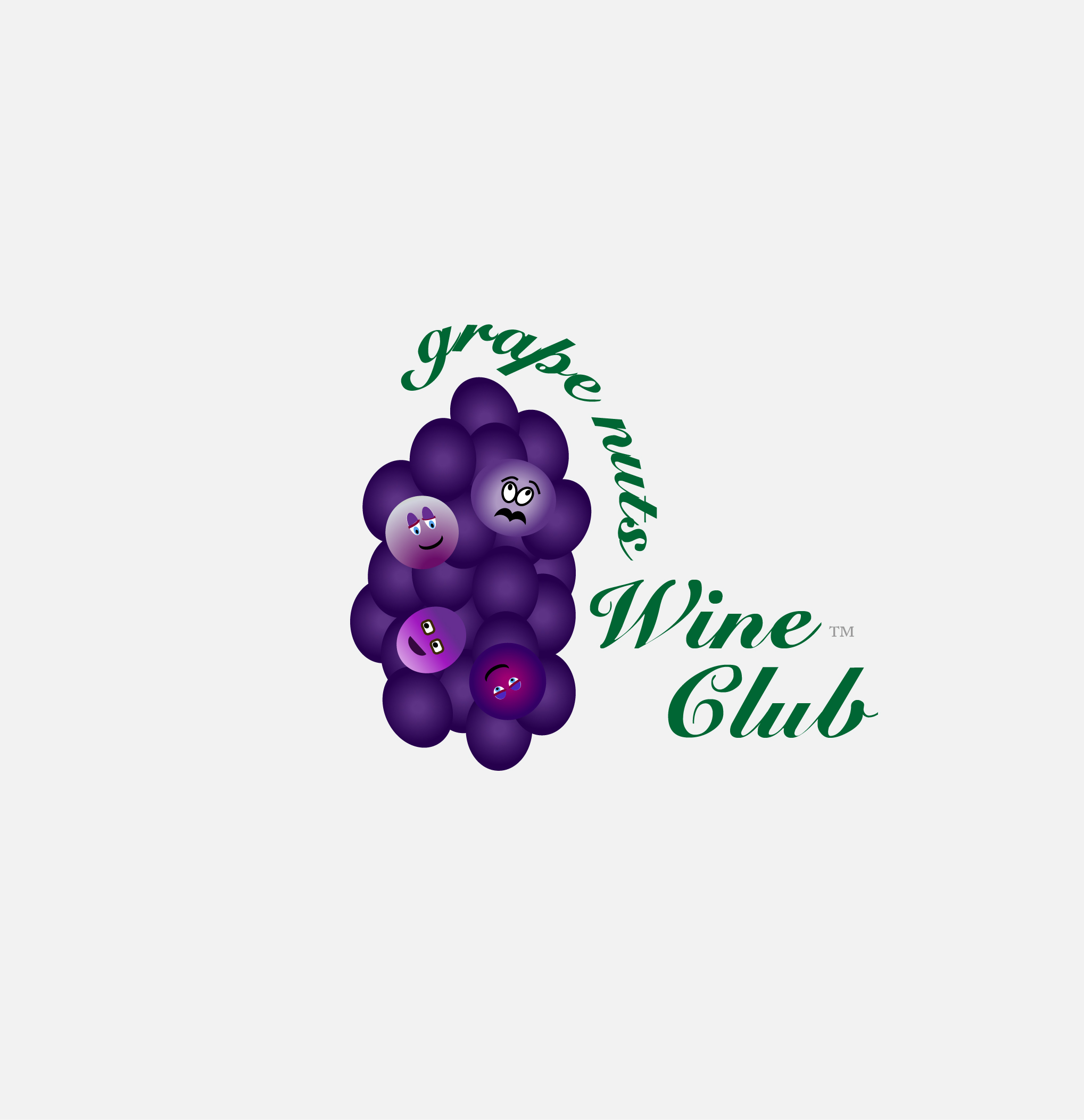 Logo Design by Nancy Grant - Entry No. 90 in the Logo Design Contest Artistic Logo Design for Grape Nuts Wine Club.