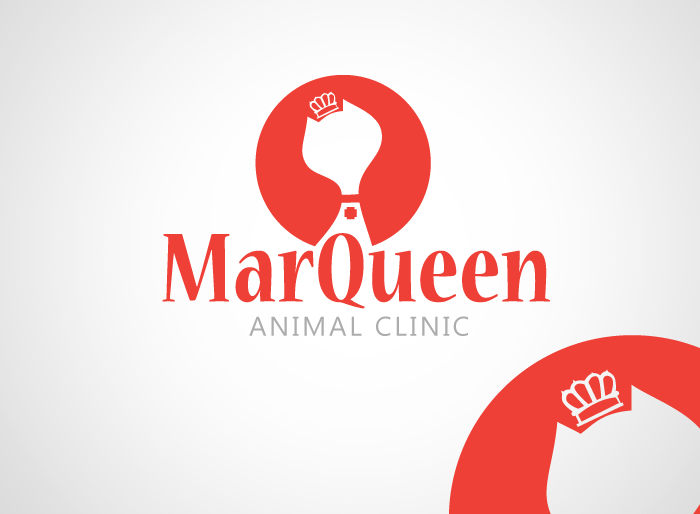 Logo Design by Jan Chua - Entry No. 31 in the Logo Design Contest Fun Logo Design for MarQueen Animal Clinic.