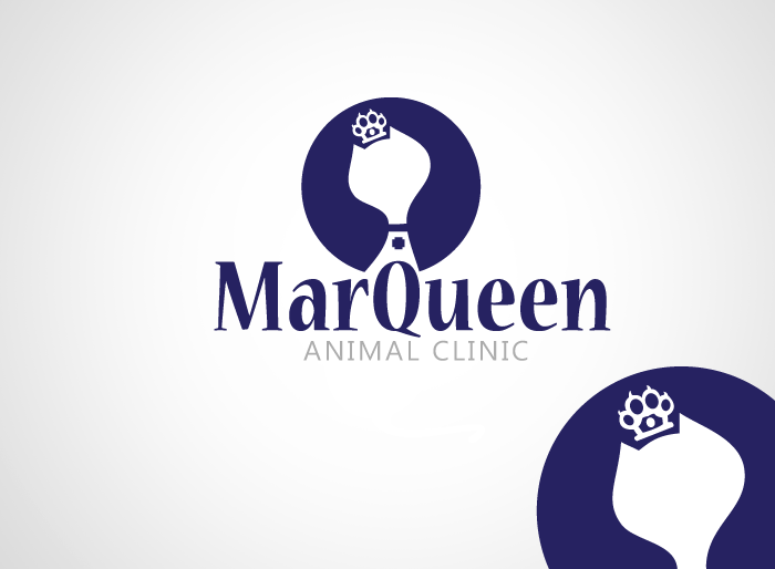 Logo Design by Jan Chua - Entry No. 32 in the Logo Design Contest Fun Logo Design for MarQueen Animal Clinic.