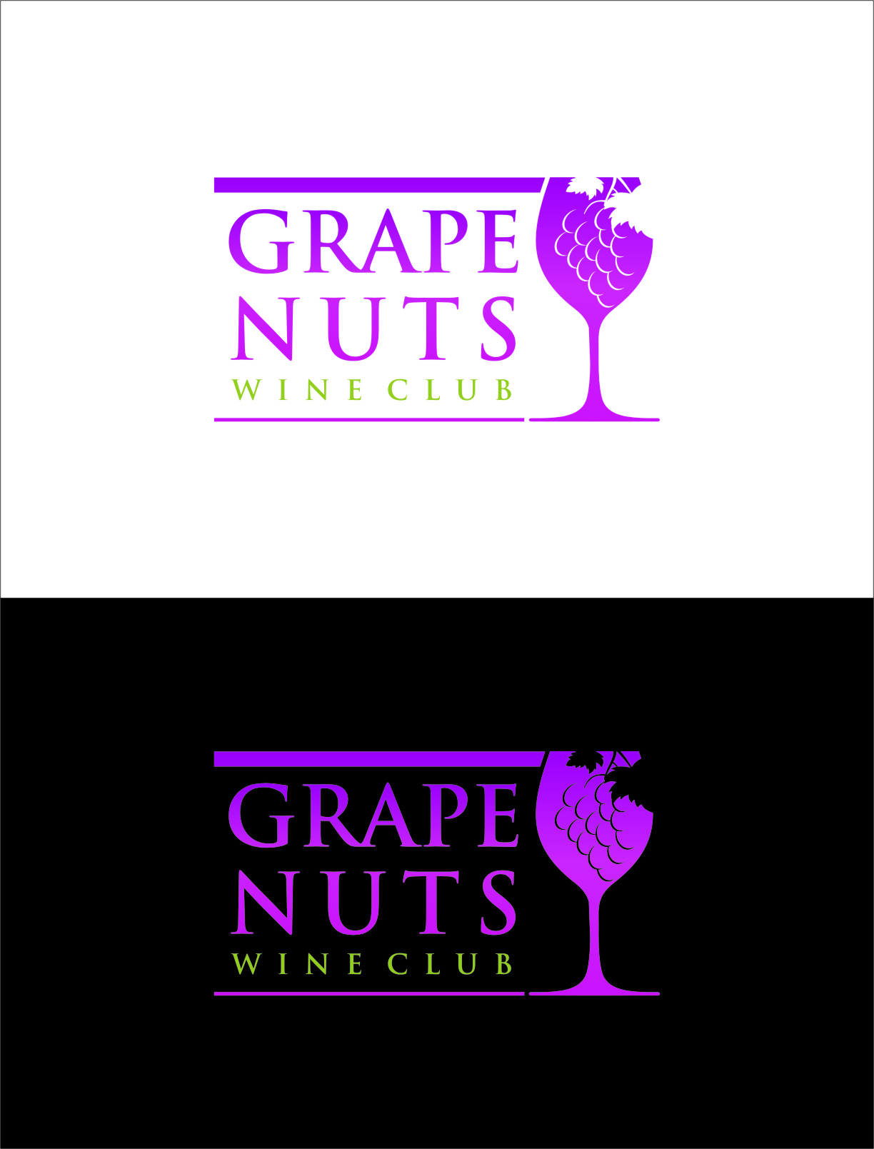Logo Design by RoSyid Rono-Rene On Java - Entry No. 96 in the Logo Design Contest Artistic Logo Design for Grape Nuts Wine Club.
