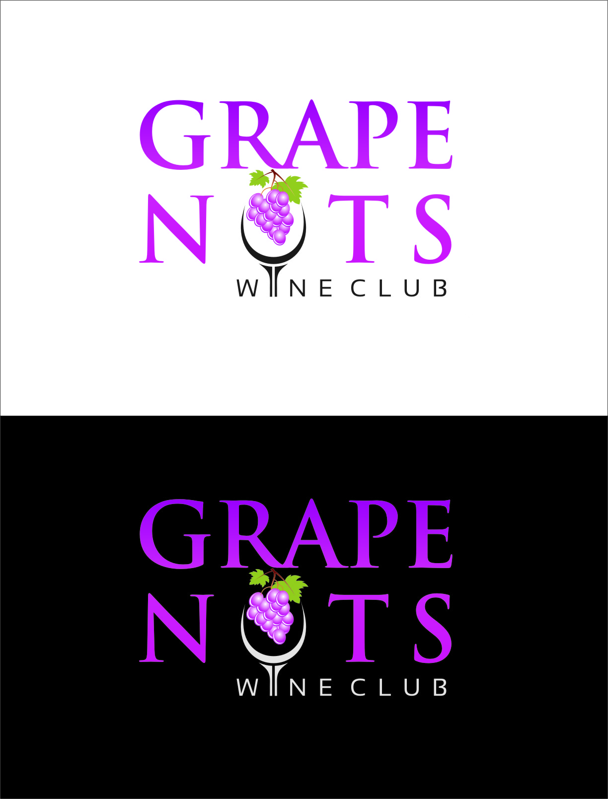 Logo Design by Ngepet_art - Entry No. 98 in the Logo Design Contest Artistic Logo Design for Grape Nuts Wine Club.