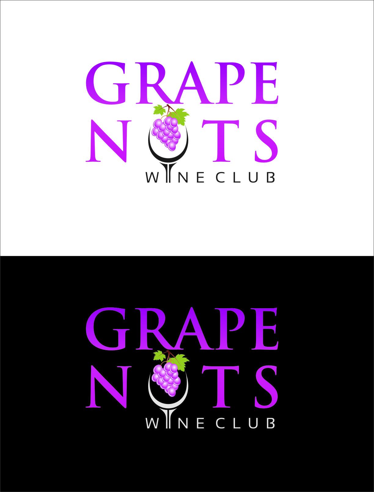 Logo Design by RasYa Muhammad Athaya - Entry No. 98 in the Logo Design Contest Artistic Logo Design for Grape Nuts Wine Club.